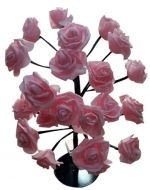 Arbol de Rosa con Luz x 3 Unds. Medida: 47 cm.