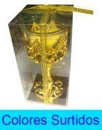 Porta Velas  Copa Chica x 4 Unds. Medida : 13 x 5 cm aprox.