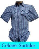 Camisa Cuadrille de Hombre Slim Fit x 3 unds. Tallas: M a 5XL