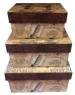 Caja de Regalo x 4 Set. Medida: 15 x 10 cm Aprox.