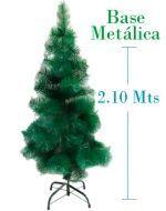 Arbol de Navidad Fibra x 3 unds.2.10 mts