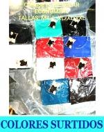 Camiseta de Polar Economica  x 12 unds. Talla: M-L/L-XL/XL-XXL