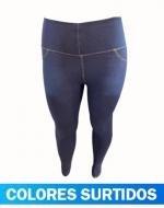 Calza Jeans de Algodón Push Up x 3 Unds. Talla: XL