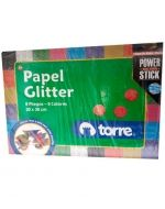x 4 Pack  Papel Glitter Torre . Medida: 20 x 30 cm aprox.