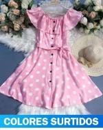 Vestido de Dama x 12 Unds. Talla: S - M - L