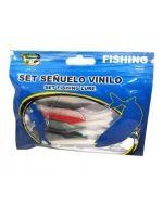 Set de Señuelo Vinilo x6 Und. Medida: 5 PCS