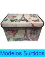 Caja Multiuso de Lona x4 unds. Medidas: 39x26x27 cm