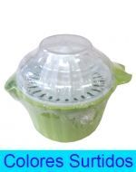 Exprimidor de Plástico  x 6 Unds. Medida: 10 x 7 cm Aprox.