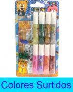 12 Set de Glitter Glue con Accesorios