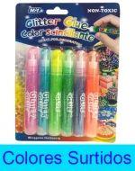 12 Set de Glitter Glue Medida : 10 cm aprox.