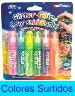 12 Set de Glitter Glue Medida : 7.5 cm aprox.