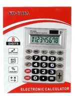 Calculadora Electrónica KD-8188A x 4 Unds. Medida : 14 x 11 cm aprox.