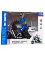 Moto  Policía con Luz y Sonido   x 4 unds.