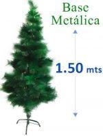 Arbol de Navidad de Fibra x 3 unds.Medidas : 1.50 mts