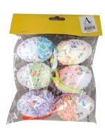 6 Set Huevos de Pascua. Medidas  : 6  cm aprox.