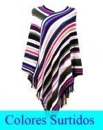 Poncho de Dama Multicolor x4 unds Talla: Standar