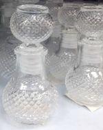 Botella de Vidrio  x 12 Und. Medida:2,5 x 2,5 x 7 cm  Aprox