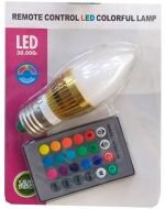 Ampolleta Led de Colores Control Remoto 30000h x 6 Unds .