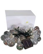 Luces de Navidad Solar Led Blanco - 20 Ampolletas Chicas  x 3 Unds. Medida: 3.00 mts.