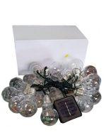 Luces de Navidad Solar Led Amarillas - 20 Ampolletas Chicas  x 3 Unds. Medida: 3.00 mts.