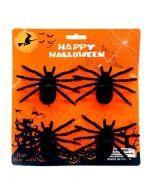 12 Set de Adornos de Halloween Arañas
