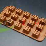 Molde Para Chocolates de Silicona x 6 unds