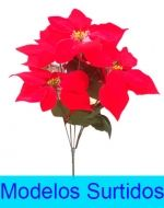 6 Ramos de Flores  Navideño. Medida:40 cm aprox