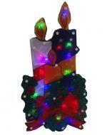 Adorno Navideños con Luz x 4 Unds Medida:  44 x 21.5 cm aprox