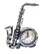 Saxofón con Reloj x 4 Unds. Medida: 18 x 12 cm Aprox.
