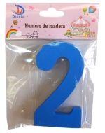 Números de Madera  x 12 Unds. Medida: 11 x 1.2 cm aprox.