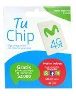 Chip Movistar 4G x 10 Unds.
