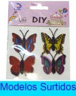 12 Set de Mariposa con Imán Medida : 2 x 3 cm aprox.