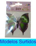 Mariposa con Imán  x 12 Unds Medida : 7 x 9 cm aprox.