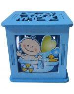 Caja de Madera Para Baby Shower  x 12 Unds. Medida : 5 x 6 x 6 cm aprox.