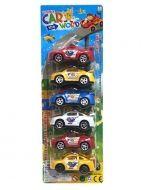 Set de Auto Policia x6 set. 6 PCS