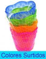 Vaso de Plastico 8 x 8 X 9 cm Aprox. x6 Set.