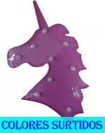 Lampara Led Unicornio x 4 Unds.Medida : 32 x 19 cm aprox