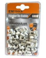 12 Set de Fijador de Cable  Medidas : 6 mm.