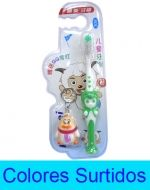 Cepillo dental con Tapa Para niño (a) mas  4 Llaveros  x 12 unds. Medida: 15 cm aprox.