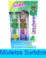 Cepillo dental con Tapa Para niño (a)  x 24 unds. Medida: 15 cm aprox.
