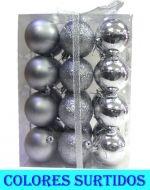 4 Set Bolas Navideñas - Medidas:  Alto = 8.5 cm  Aprox.