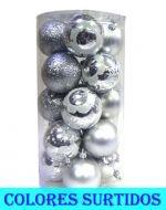 4 Set Bolas Navideñas - Medidas:  Alto = 9 cm  Aprox.