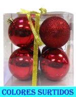 4 Set Bolas Navideñas - Medidas:  Alto = 11.5 cm  Aprox.