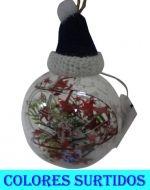 Bolas Navideñas con Luz x 6 Unds - Medidas:  11 cm Aprox.