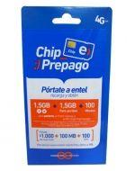 Chip Entel 4G x 10 Unds.
