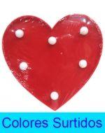 Lampara Corazón x 4 Unds. Medida: 14 x 16 cm Aprox.