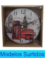 Reloj con Diseño de 12x12 cm Aprox. x6 unds