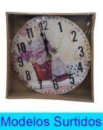Reloj de Pared con Diseño  x4 unds,