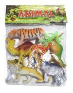 6 Set de Animales. Medida: 13 x 5 cm.