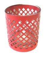 Candelabro de Vidrio con Metal x 4 Unds. Medida: 7 x 7 x 9 cm Aprox.